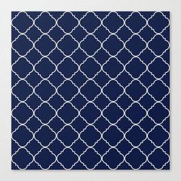 Indigo Navy Blue Moroccan Canvas Print