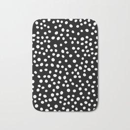 Black and white doodle dots Bath Mat