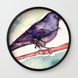 Pinzon azul Wall Clock