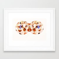 kaleidoscope Framed Art Prints featuring Kaleidoscope by jenn l