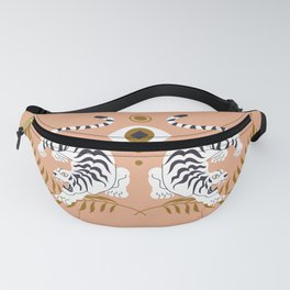 Tiger Zodiac Symbol Astrology Sign Magical Constellation Eye Sun Moon Signs Bohemian Boho Style Fanny Pack