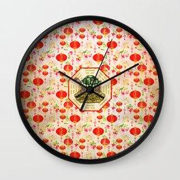 Watercolor Tortoise / Turtle Feng Shui on Bagua Wall Clock