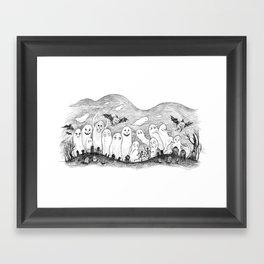 Halloween Ghosts Framed Art Print