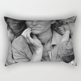 Migrant Mother Great Depression Rectangular Pillow