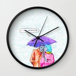 No Offense Wall Clock