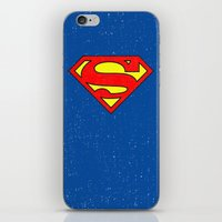 superman iPhone & iPod Skins featuring Superman by Alisa Galitsyna