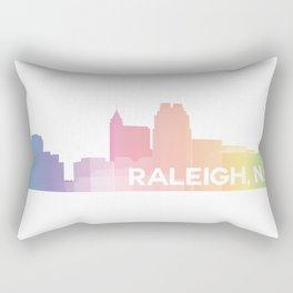 Raleigh Skyline Rectangular Pillow