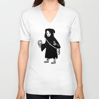 chill V-neck T-shirts featuring Chill Reaper by Terry Mack