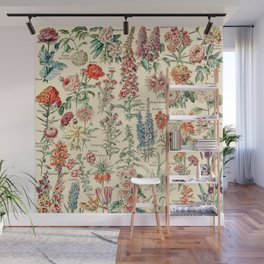 Vintage Floral Drawings // Fleurs by Adolphe Millot XL 19th Century Science Textbook Artwork Wall Mural