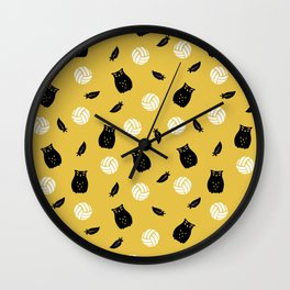Volley Owls! Wall Clock