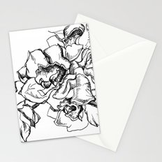 Flowers Line Drawing Stationery Cards