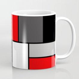 Red Black and Grey squares Coffee Mug