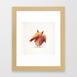Monday fox Framed Art Print