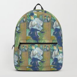 "Henri de Toulouse-Lautrec ""Jane Avril Dancing"" Backpack"
