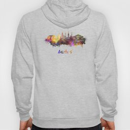 Aarhus skyline in watercolor Hoody