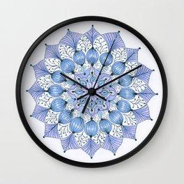 Rhapsodala in Blue Wall Clock