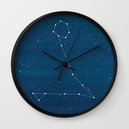 Pisces zodiac constellation Wall Clock