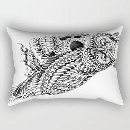 Great Horned Skull Rectangular Pillow