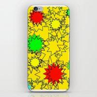 yellow pattern iPhone & iPod Skins featuring Yellow pattern  by Vivian Fortunato
