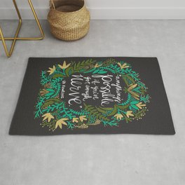 Anything's Possible on Charcoal Rug