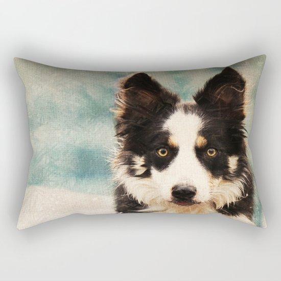 The Best Friends - Snow's Border Rectangular Pillow