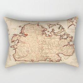 Map Of Antigua 1794 Rectangular Pillow