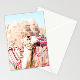 308. Camels colors, Petra, Jordanie Stationery Cards