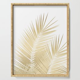 Gold Palm Leaves Dream - Cali Summer Vibes #1 #tropical #decor #art #society6 Serving Tray