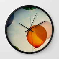 happiness Wall Clocks featuring Happiness... by Alicia Bock