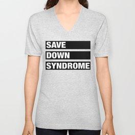 down syndrome Unisex V-Neck