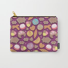 Mexican Sweet Bakery Frenzy // pink background // pastel colors pan dulce Carry-All Pouch