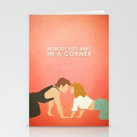 dirty dancing Stationery Cards featuring Dirty Dancing (80's Minimalism Series) by Trevor Downs