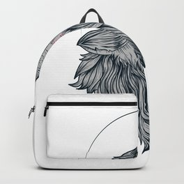 Howling Grey Wolf Canis Lupus Backpack