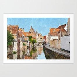 Brugge, Belgium Art Print