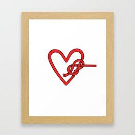 knot in love Framed Art Print