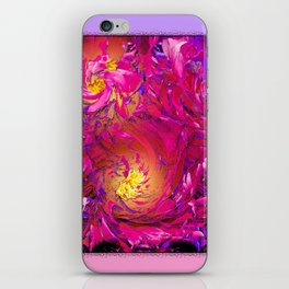 PEONY IN JUNE ABSTRACT iPhone Skin