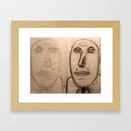 mirror of charcoal Framed Art Print