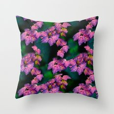 Purple fall Throw Pillow
