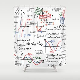 Math Cheat Sheet Shower Curtain