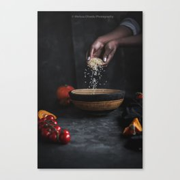 Rice and Hands Canvas Print