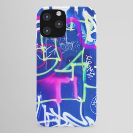 Blue Mood with Pink Language iPhone Case