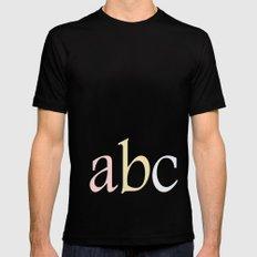 ABC MEDIUM Black Mens Fitted Tee