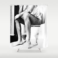 meditation Shower Curtains featuring Meditation by Munzer