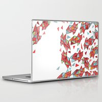 triangles Laptop & iPad Skins featuring triangles by Matthew Taylor Wilson