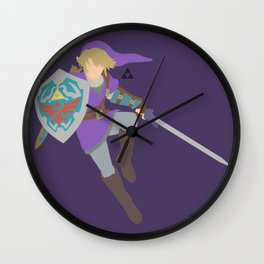 Link(Smash)Purple Wall Clock