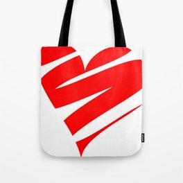 Stylized Heart Tote Bag