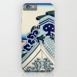 "Hokusai (1760-1849) ""Asakusa Hongan-ji temple in the Eastern capital [Edo]"" iPhone Case"