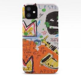 Basquiat king iPhone Case