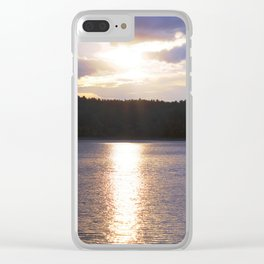Sunset at Concord's Walden Pond 10 Clear iPhone Case