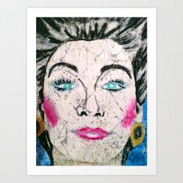 Fashion Face Art Print
